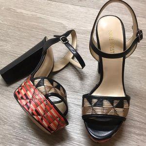 Nine west platform heels